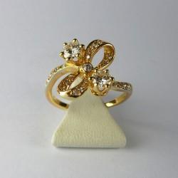 Bague Toi et Moi - 0,8ct de diamant - or jaune
