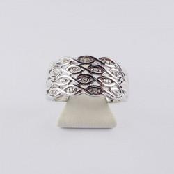 Bague tressée - xxct de diamant - or blanc
