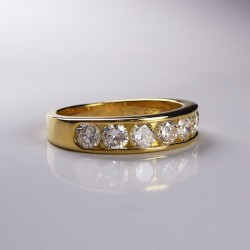 Alliance 1,3ct de diamants - or jaune