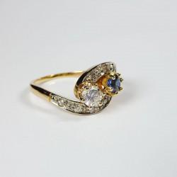 Toi & Moi - Diamants & Saphir - Occasion