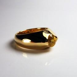 Saphir jaune & Diamants - Or jaune 18ct (750/000)