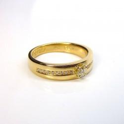 HERZO - Diamants 0,28ct - Or jaune