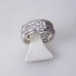 Bague double 0,77ct de diamants - or blanc