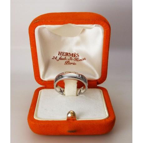 Bague HERMES - Hercule - or blanc