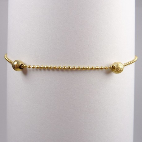 Bracelet maille boule - or jaune