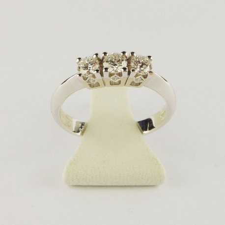 Bague 0,48ct de diamant - or blanc