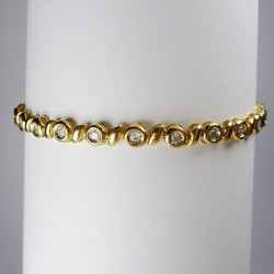 Bracelet 1ct de diamant - or jaune