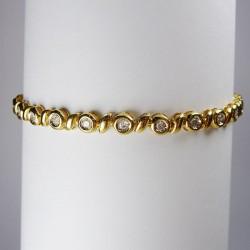 Bracelet 1ct de diamant - or jaune