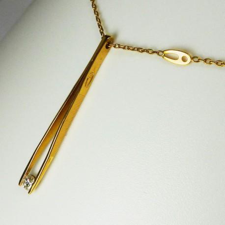 AUGIS - Diamant 0,10ct - or jaune