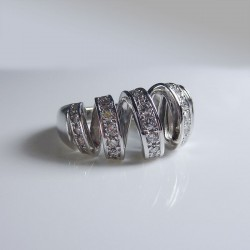 Bague 1ct de diamant - or blanc