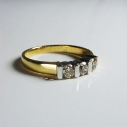 Bague trilogie 0,48ct de diamant