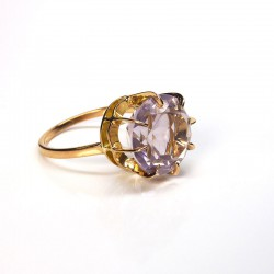 Bague améthyste 6,75ct - Or rose 18ct