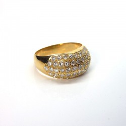 Bague boule - Diamants 1,6ct - Or jaune