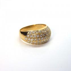 Bague boule - Diamants 1,6ct - Or jaune