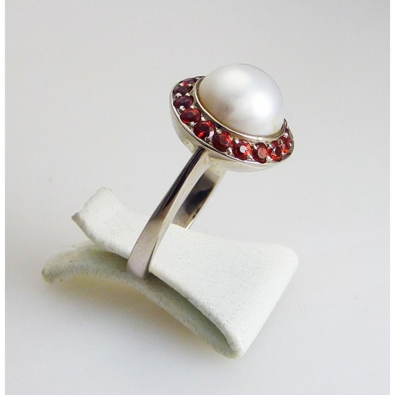 bague perle et saphir