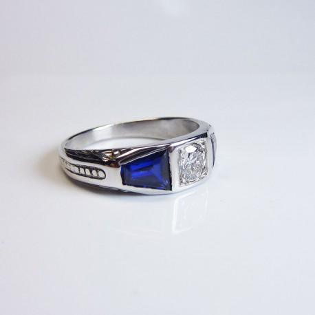 Bague Diamant 0,35ct et Saphir - Occasion