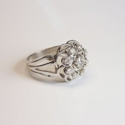 Bague marguerite - Diamants 0,5ct - Occasion