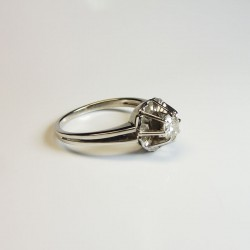 Solitaire - Diamant 0,35ct - Occasion