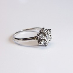 Bague marguerite - Diamants 0,5ct - Occasion