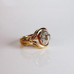 Bague Diamant 0,46ct - Or et Platine - Occasion