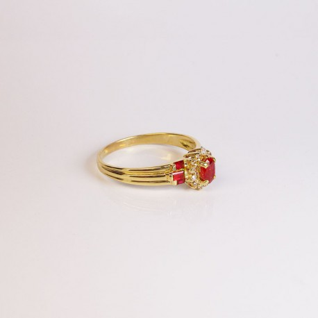 Bague Rus et Diamants - Or jaune - Occasion