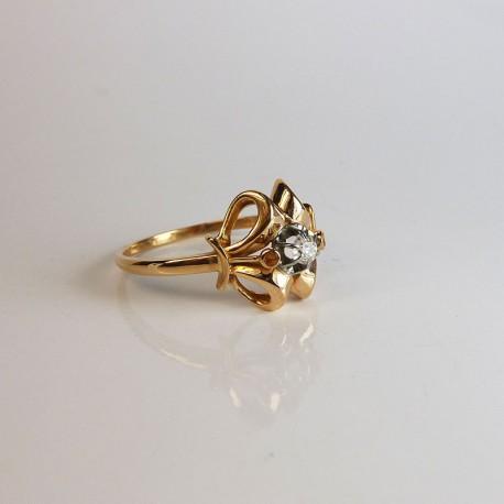 Super Bague ancienne - Diamant - Or rose - Bijouterie Akarat SZ21