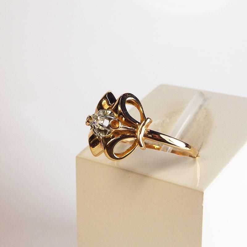 bague ancienne diamant or rose bijouterie akarat. Black Bedroom Furniture Sets. Home Design Ideas
