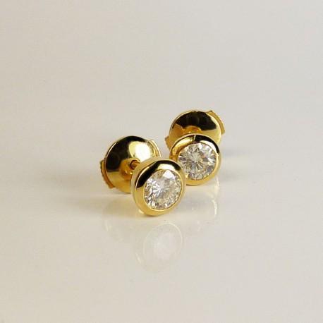 Boucle d'oreille - Diamants 0,6ct - Occasion