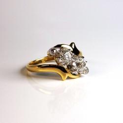 Bague Toi & Moi - Diamants 0,78ct - Ancien