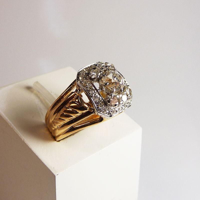 bague ancienne diamants 1ct occasion bijouterie akarat. Black Bedroom Furniture Sets. Home Design Ideas