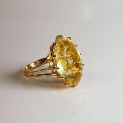 Bague - Citrine 14ct - Occasion