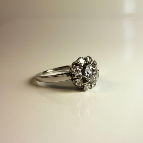 Bague Marguerite - Diamants 1,34ct - Occasion