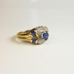 Bague Saphir & Diamants - Occasion