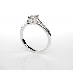 MARIE - Solitaire Diamant - 0,25ct - Or 750