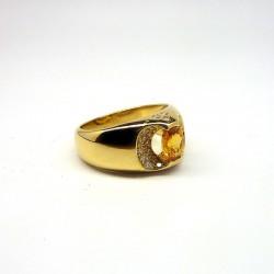 KORLOFF - Saphir jaune - Diamants
