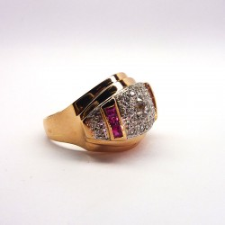 Bague ancienne - Diamants 0.66ct