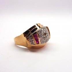 Bague ancienne - Diamants 0.66ct