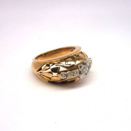 Bague Ancienne - Diamant 0,36ct - Or & Platine