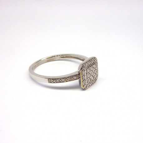 Bague Diamants 0,26ct - Or Blanc - Occasion