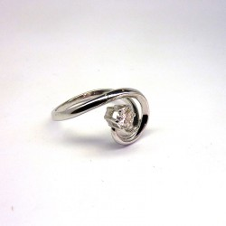 Solitaire Diamant 0,25ct - Or Blanc 18ct