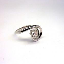 Solitaire Diamant 0,25ct - Or Blanc 18ct